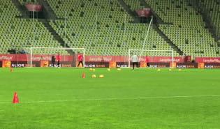 Trening reprezentacji na stadion Energa Gdańsk