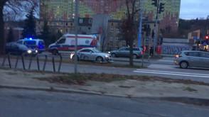 Potrącenie rowerzysty na Kartuskiej
