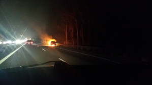 Pożar samochodu na obwodnicy