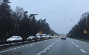 Korek na wysokości Matarni w kierunku Gdańska