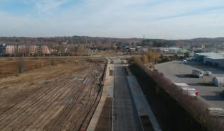 Zbiornik retencyjny Osowa II i ulica Nowy Świat