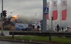 Płonąca karczma Zagroda  na garnicy Gdańska i Sopotu