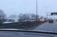 Korek na Trasie Sucharskiego za Mostem Wantowym