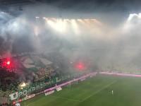 Pirotechnika na meczu Lechii Gdańsk
