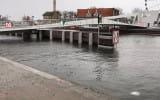 Wysoki poziom wody w Motławie