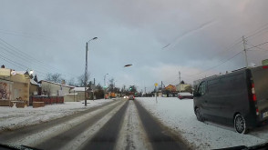 Nieodśnieżone drogi na Osowej