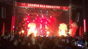 Wtargniecie na scenę podczas finału WOŚP w Gdańsku