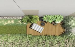 Projekt małego ogrodu miejskiego w Gdyni   82 m2   Pracownia STTYK