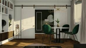 Projekt wnętrza mieszkania w centrum Gdyni | Gdynia Śródmieście | Pracownia STTYK