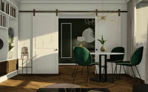 Projekt wnętrza mieszkania w centrum Gdyni   Gdynia Śródmieście   Pracownia STTYK
