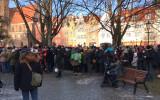 W parku Świetopełka tłumy przed telebimem