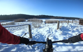 Trójmiejski Park Krajobrazowy idealny na rower, nawet zimą