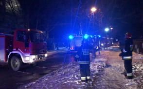 Pożar domu w Gdańsku Osowej