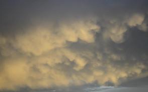 Chmury w Gdańsku po nawałnicy