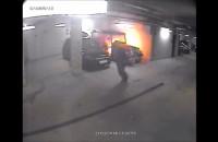 Podpalił meleksa w hali garażowej