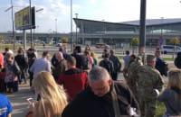 Ewakuacja lotniska w Gdańsku