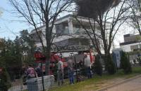 Pożar dachu w Orłowie