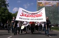 Pochód związkowców Solidarności