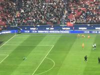 Radość kibiców i piłkarzy Lechii po zdobyciu Pucharu Polski