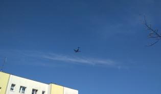 Wojskowy samolot transportowy C17 nad Chełmem