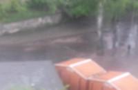Ul. Boczna Sopot. Potok z lasu juz ...