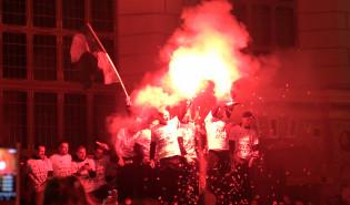 Lechia Gdańsk. Feta przy Neptunie i na stadionie