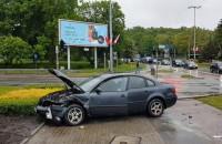 Duży korek po wypadku przy pl. Zebrań Ludowych w Gdańsku