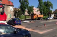 Poważna stłuczka z motocyklistą na Trakcie św. Wojciecha