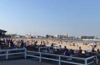 Słoneczna pogoda na plaży Śródmieście