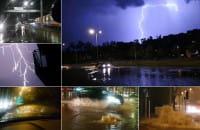Nocna burza nad Trójmiastem - kompilacja filmów czytelników
