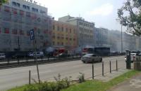 Pali się samochód na Grunwaldzkiej we Wrzeszczu