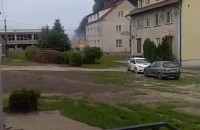 Pożar - czarny dym