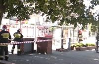 Straż pożarna na Świętojańskiej przed Infoboksem