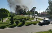 Pożar samochodu na Jasieniu