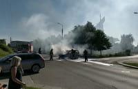 Trwa akcja gaśnicza na Pólnicy w Gdańsku