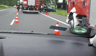 Wypadek DK 91 Kolnik,  jeden pas nie przejezdny w kierunku Gdańska