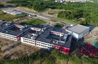 Nowa szkoła na Jabłoniowej z lotu ptaka