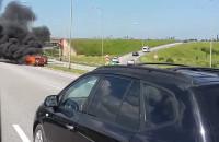 Pożar auta na węźle Karczemki