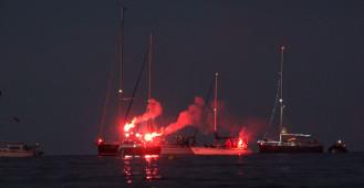 Świecąca parada jachtów w Gdyni