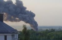 Z Oruni Górnej widac dym nad miastem