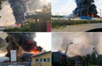 Pożar na Oruni - kompilacja filmów czytelników