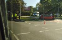 Kolizja na skrzyżowaniu Chłopskiej i Piastowskiej