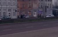 Pożar kamienicy w Oliwie