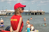 Gorąca niedziela na plaży