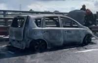 Spłonął samochód na obwodnicy