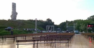 Westerplatte na dzień przed uroczystościami