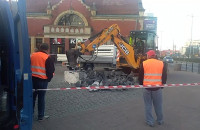 Prace remontowe przy dworcu PKP w Gdańsku