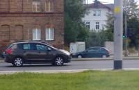 Wypadek na al. Grunwaldzkiej, przy skrzyżowaniu z Pomorską