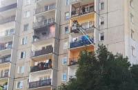 Pożar mebli na balkonie bloku przy Dreszera w Gdyni