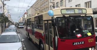 Parada pojazdów ZKM Gdynia z okazji 90-lecia